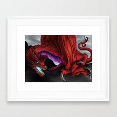 Red Wryven Framed Art Print