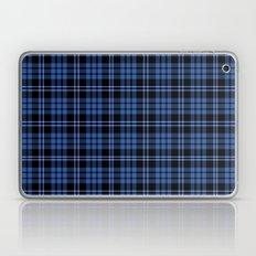 Blue And White Tartan Plaid Pattern Laptop & iPad Skin