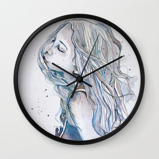 Breeze (variant II), watercolor painting Wall Clock