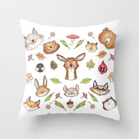 Woodland Kaleidoscope Throw Pillow