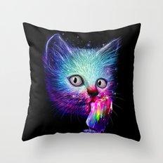 Slurp! Throw Pillow