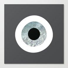 Grey sea evil eye Canvas Print