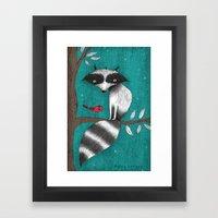 CUSHY TAIL Framed Art Print