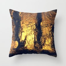 COLLAGE LOVE   SHIPWRECK AT THE BOTTOM OF THE SEA Throw Pillow