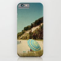 Blue Beach Umbrella iPhone 6 Slim Case