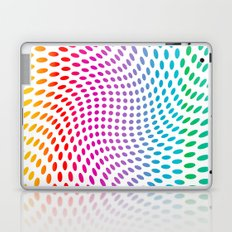 Approaching and receding shapes in CMYK - Optical game 17 Laptop & iPad Skin