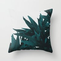 Throw Pillows featuring End up here by Hanna Kastl-Lungberg