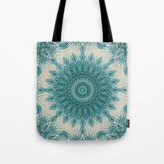 Woven Palm Mandala Tote Bag