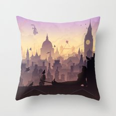 Wind's In The East... Throw Pillow