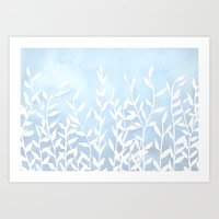 Blue Nature Art Print