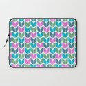 Tulip Knit (Teal Pink Blue Green) Laptop Sleeve