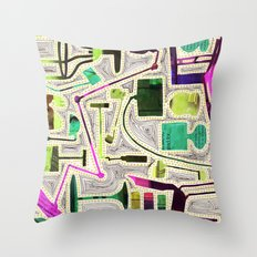 Modern Furniture Collage Throw Pillow