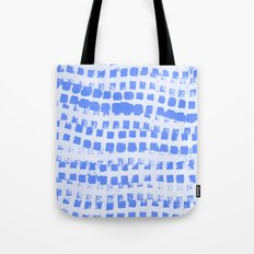 Abstract azure navy pattern Tote Bag