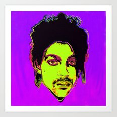 Prince / Warhol Remix Square Shape Art Print
