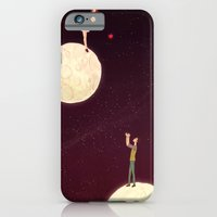 iPhone & iPod Case featuring 2 moons, a girl and a boy! by Renia