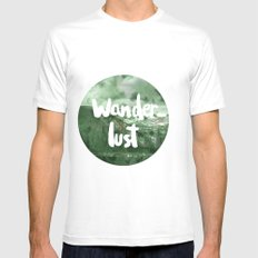 Wanderlust Mens Fitted Tee SMALL White