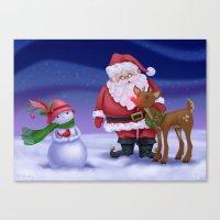 Santa & Friends Canvas Print