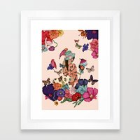 Color Splash Framed Art Print