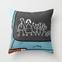 Honest Stick Figure Fami… Throw Pillow