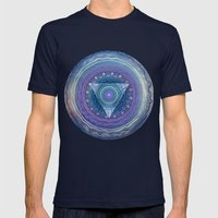 Ajna Third Eye Chakra Mens Fitted Tee Navy SMALL