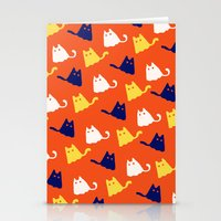 Ghostly Cats Stationery Cards