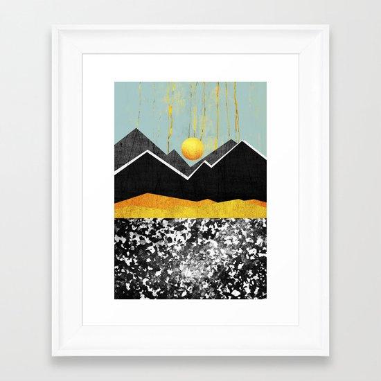 Golden land Framed Art Print