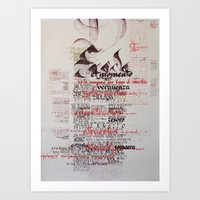 lord of the rings Art Prints featuring Lord of the Rings by Anis