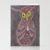 Stylized Owl Stationery Cards