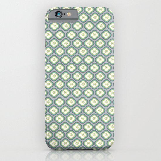 Grey Graphic Flower iPhone & iPod Case