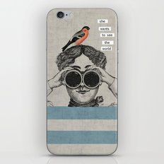 she wants to see the world iPhone & iPod Skin