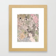 Alone In The Flowers Framed Art Print