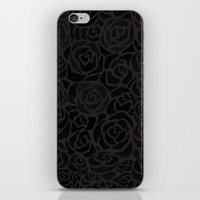 Cluster of Black Roses iPhone & iPod Skin