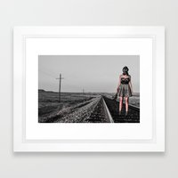 All Dressed Up With No Place Framed Art Print