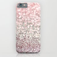 iPhone & iPod Case featuring Girly Pink Snowfall by Lisa Argyropoulos