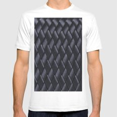 Woven Black SMALL White Mens Fitted Tee