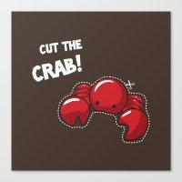 Cut the crab! Canvas Print
