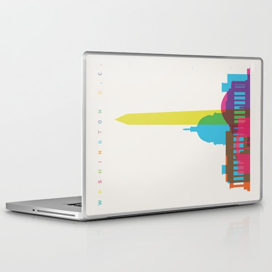 Shapes of Washington D.C. Accurate to scale Laptop & iPad Skin