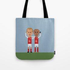 Bergkamp and Henry in Arsenal Tote Bag