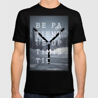 Be Patient. Be Optimisti… Mens Fitted Tee Black SMALL
