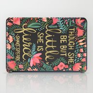 iPad Case featuring Little & Fierce On Charc… by Cat Coquillette