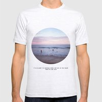 Things people don't say about the beach Mens Fitted Tee Ash Grey SMALL