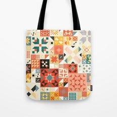 Modern Quilt Pattern Tote Bag