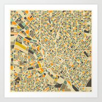 Dallas Map Art Print