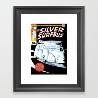 Silver Surfbus Framed Art Print