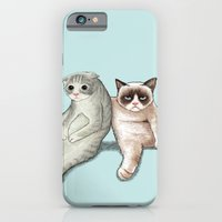 iPhone & iPod Case featuring Grumpy Friend by Tummeow