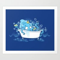 Kracken Bath Art Print