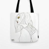 Yellow Eyeshadow Tote Bag