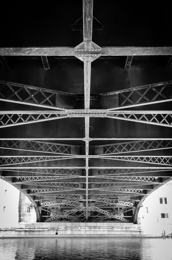 Chicago Riverwalk - Underneath Wabash Avenue Bridge Art Print