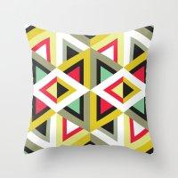 Stripy Triangle Pattern Throw Pillow