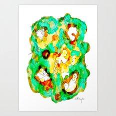 Verde que te quiero verde Art Print